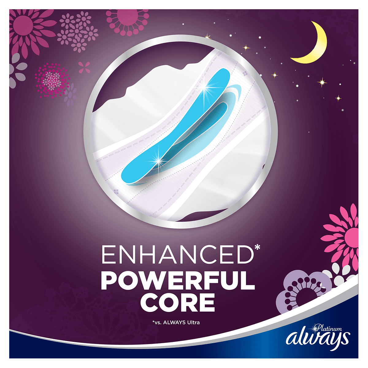ALWAYS Platinum Night Sanitary Towels Size 4