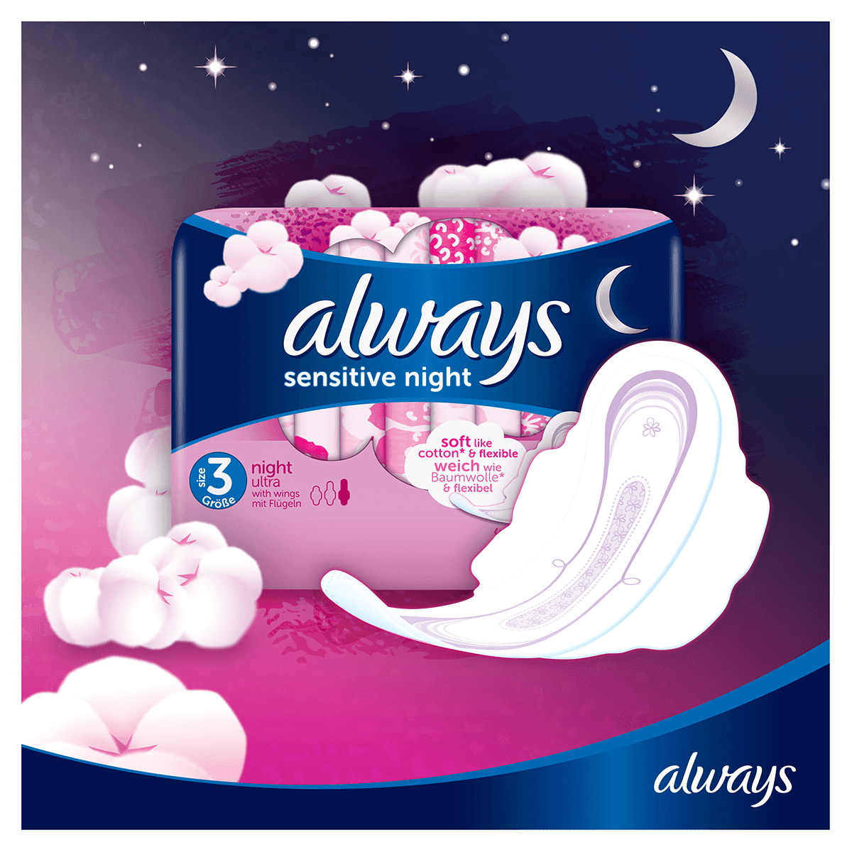 ALWAYS Sensitive Normal Sanitary Towel with wings Menstrual Cycle