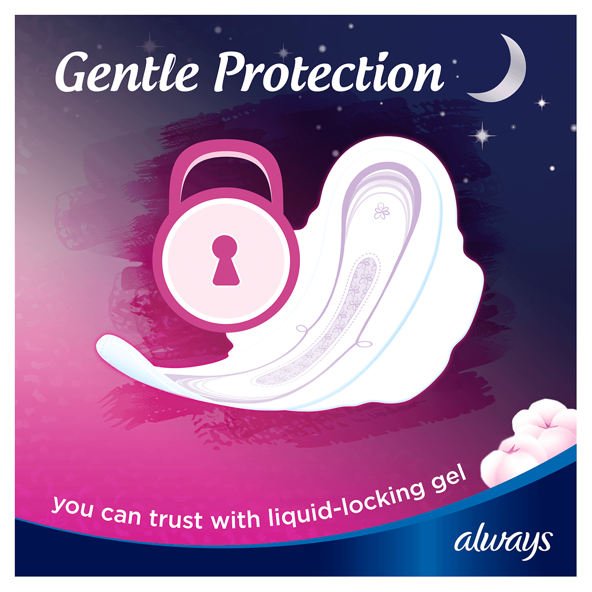 ALWAYS Sensitive Normal Sanitary Towel with wings Gentle Protection