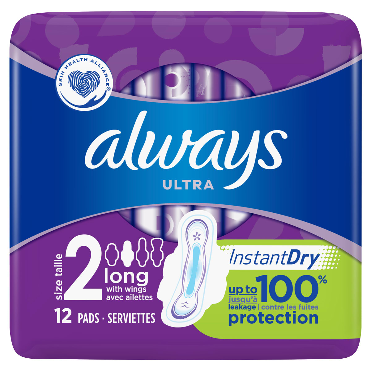 ALWAYS Ultra Long (Size 2) sanitary towels with wings 12ct