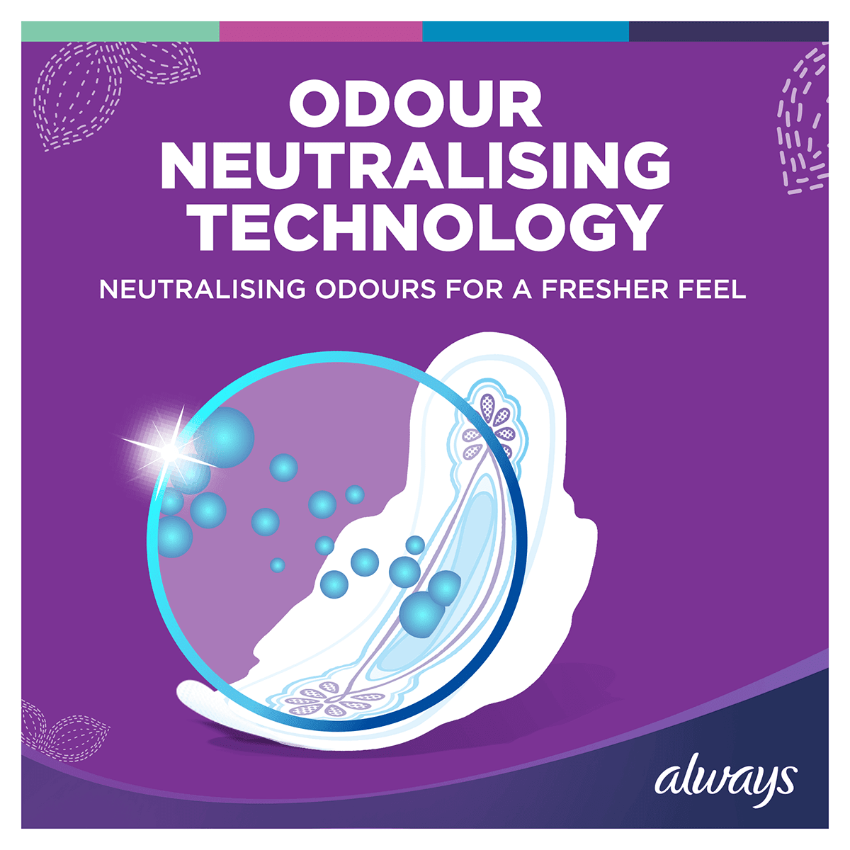 ALWAYS Ultra Long Wings Sanitary Towel Menstrual Cycle Odour Neutralising Technology