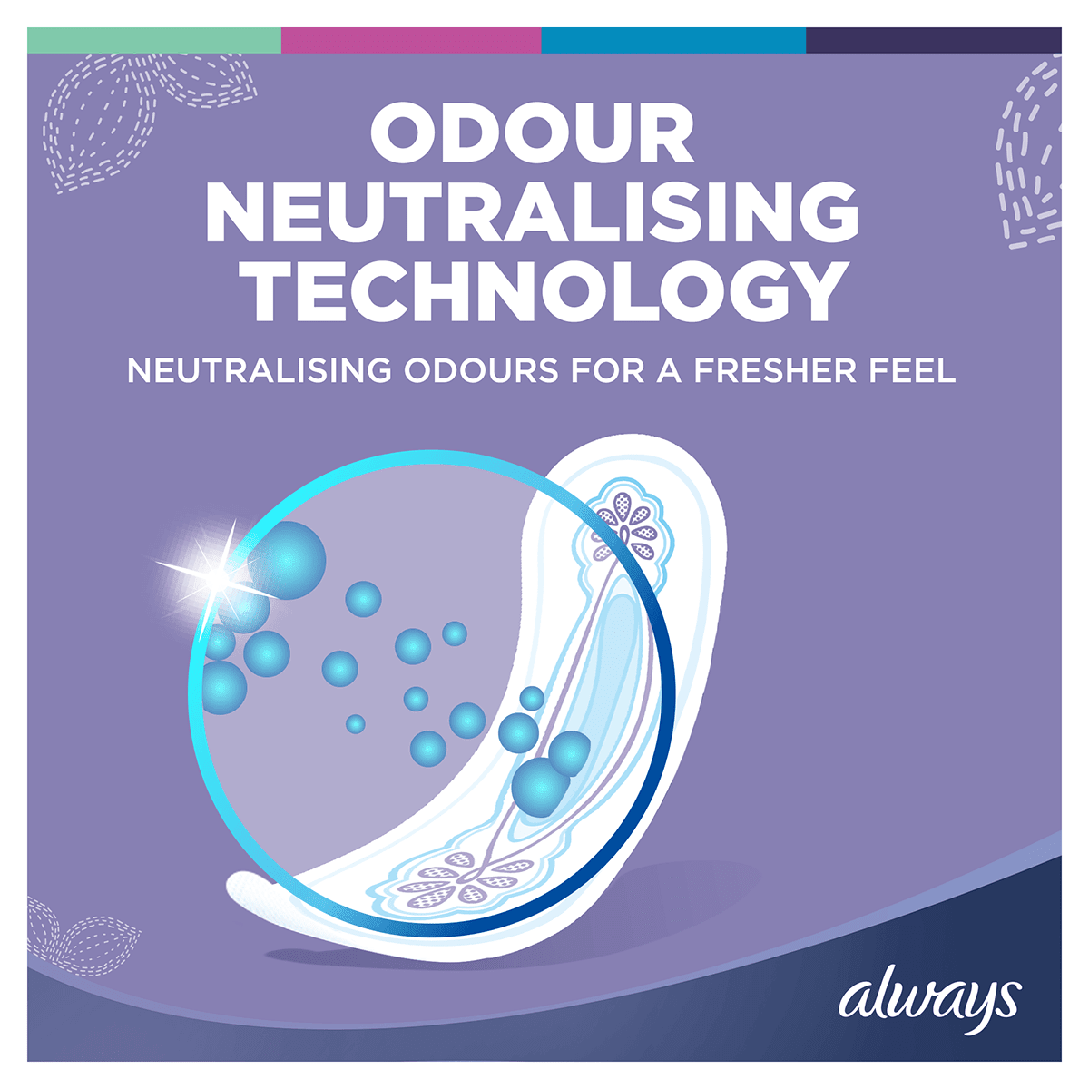 ALWAYS Ultra Long Sanitary Towel Menstrual Cycle Odour Neutralising Technology