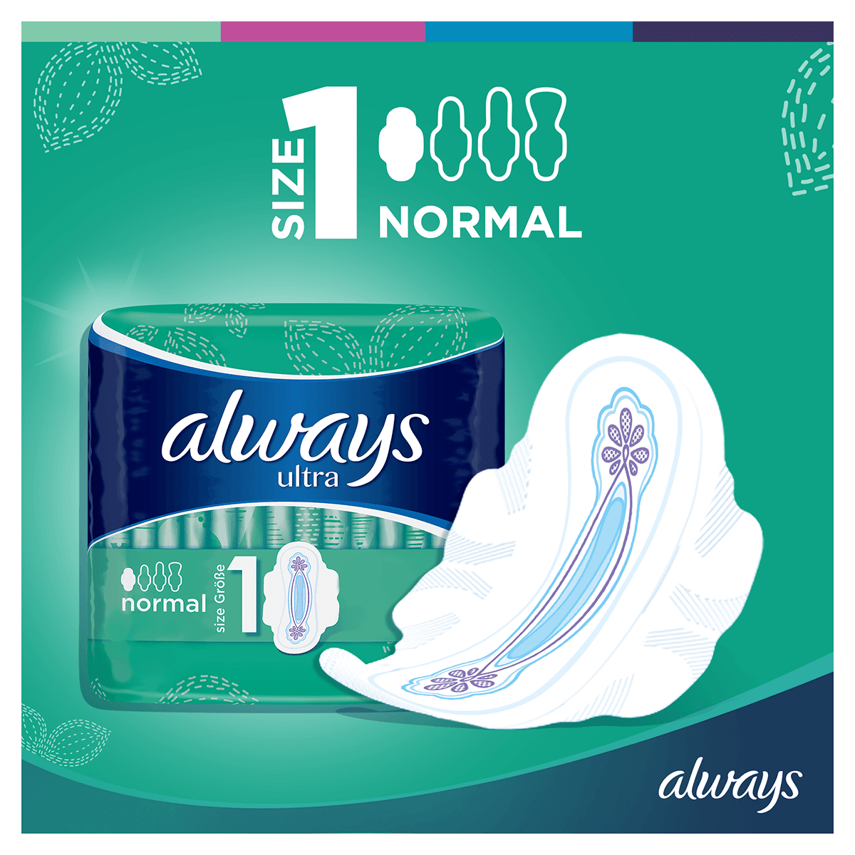 ALWAYS Ultra Normal Wings Sanitary Towel Menstrual Cycle