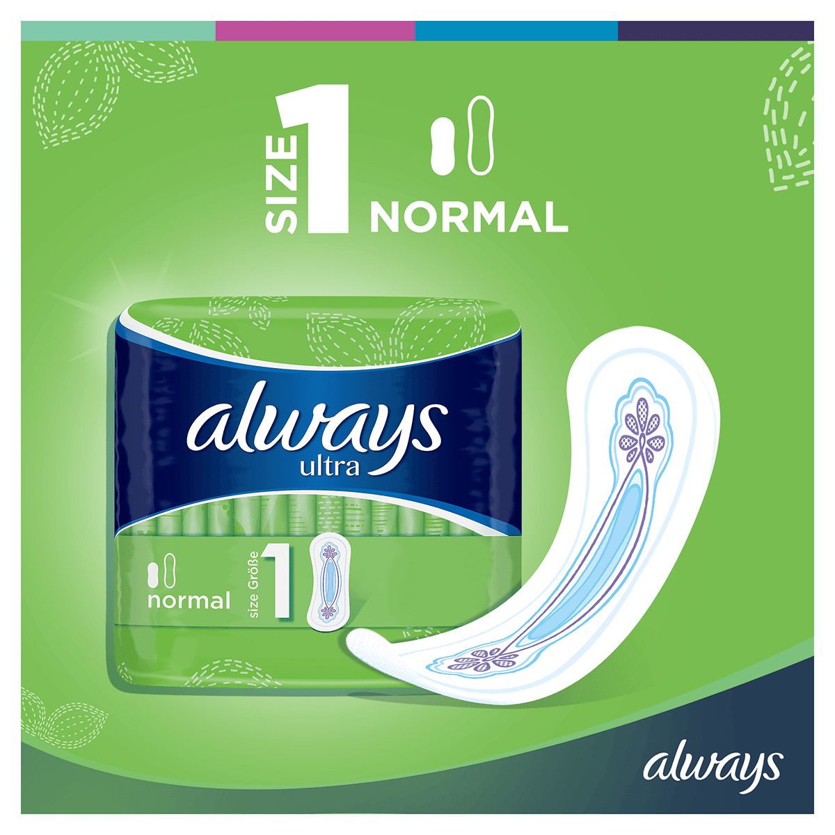 ALWAYS Ultra Normal Sanitary Towel Menstrual Cycle