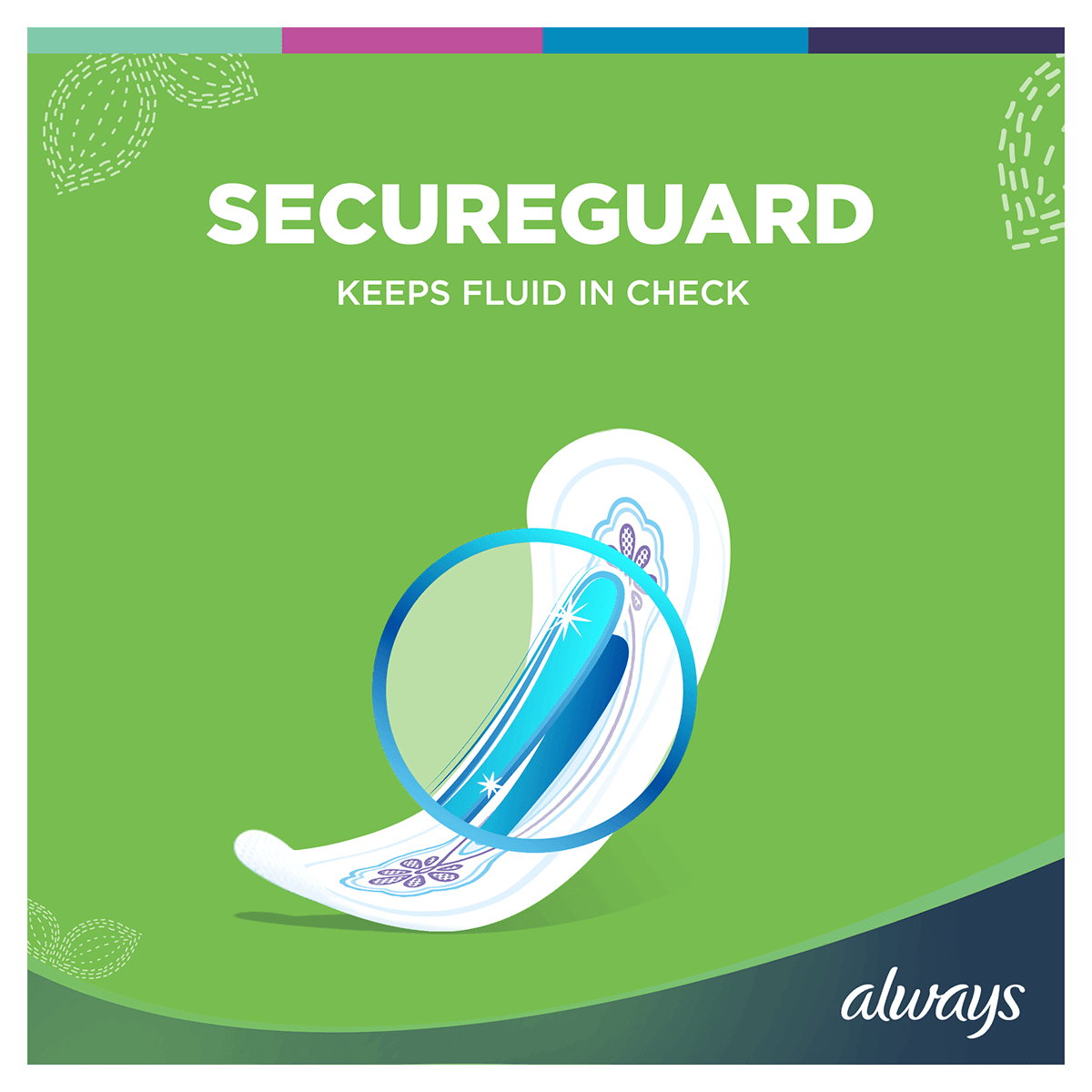 ALWAYS Ultra Normal Sanitary Towel Menstrual Cycle Secureguard