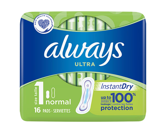 Always Ultra Super with Wings Sanitary Towels 8 Pads Size 2