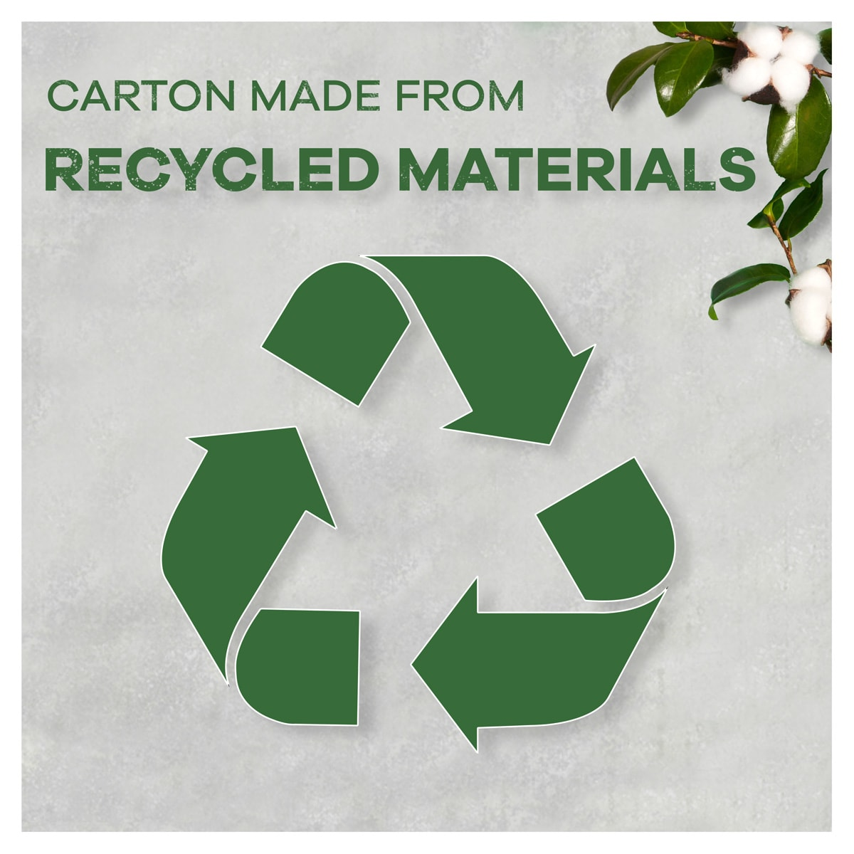 Carton made from recycled materials