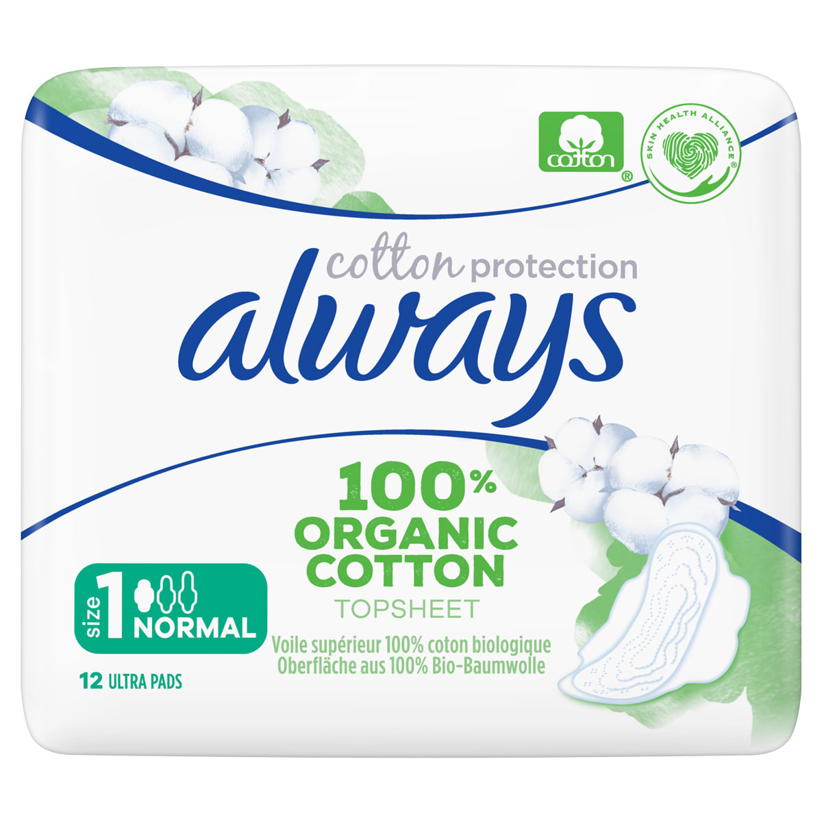 Always Cotton Protection Pads Size 1
