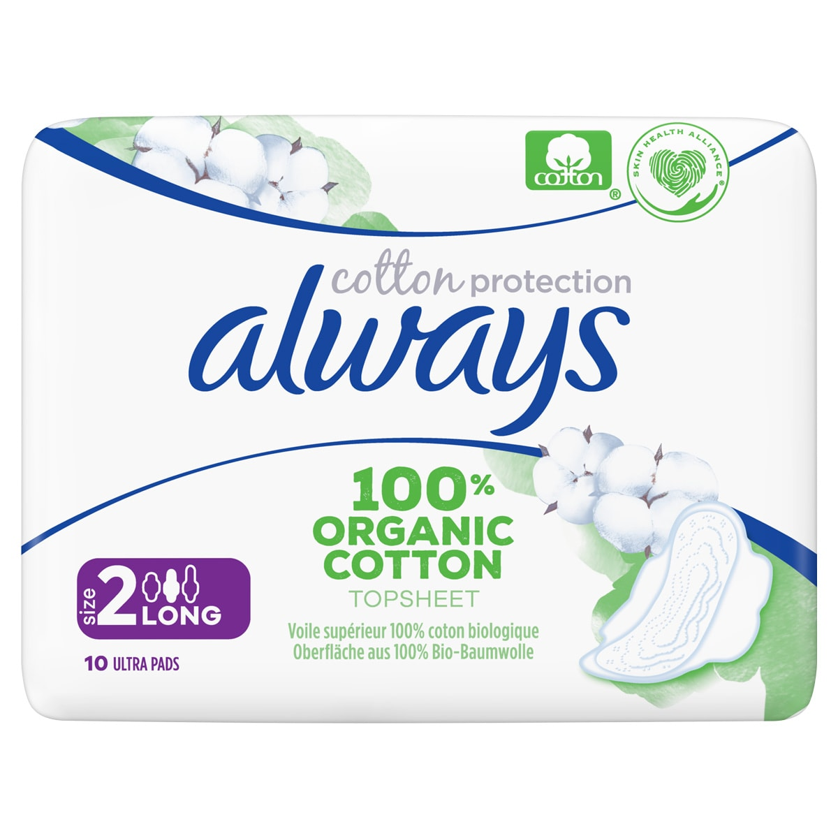 Always Cotton Protection Pads Size 2