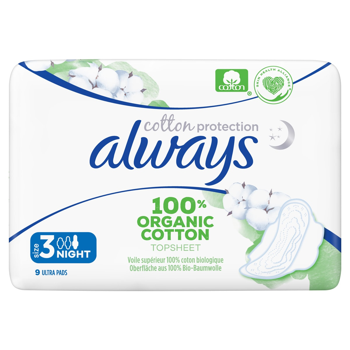 Always Cotton Protection Pads Size 3