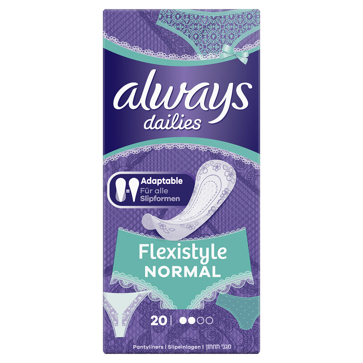 ALWAYS DAILIES Flexistyle Panty Liners Normal