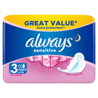 ALWAYS Sensitive Night Ultra (Size 3) sanitary towels with wings