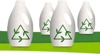 Ariel packaging with renewable materials
