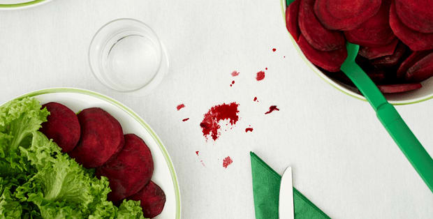 How to remove beetroot stains