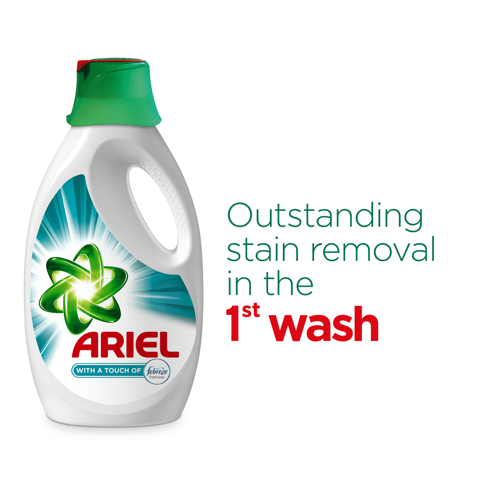 Outstanding stain removal in the 1st wash
