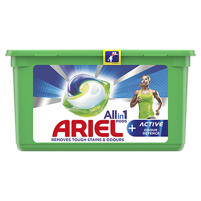Ariel All-in-1 PODS +Active Odour Defence
