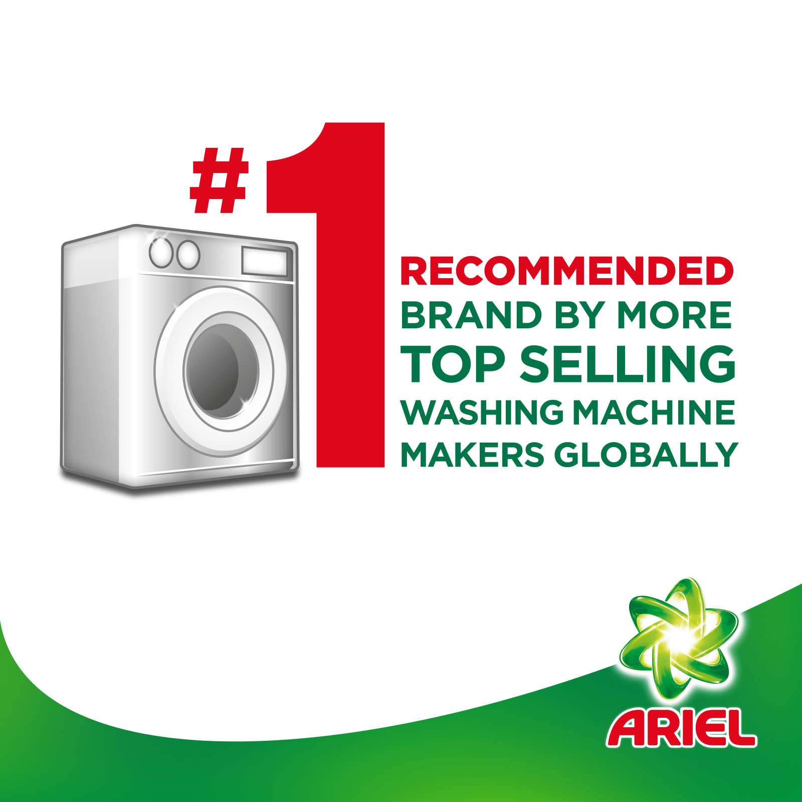 Number One recommended brand by more top selling washing machine makers globally