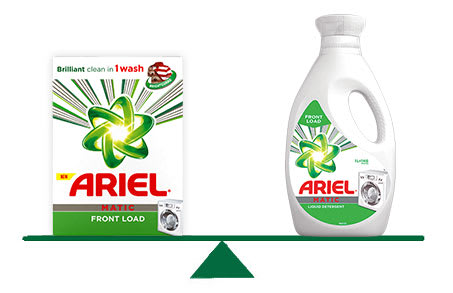 Ariel Front Load Powder and Liquid Detergents