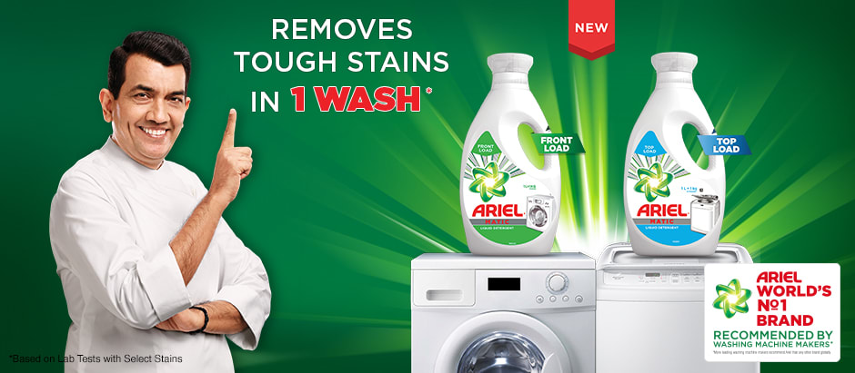 Removes tough stains in 1 wash