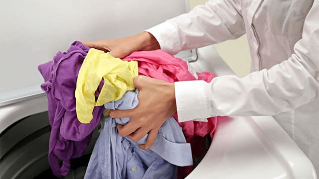 4. Unload the laundry