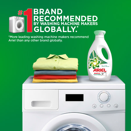 No. 1 brand recommended by washing machine makers globally