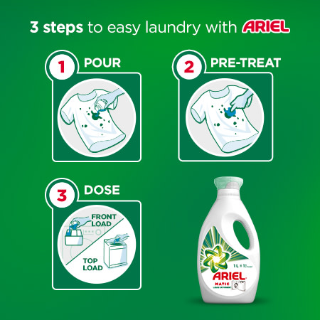 3 steps to easy laundry with Ariel