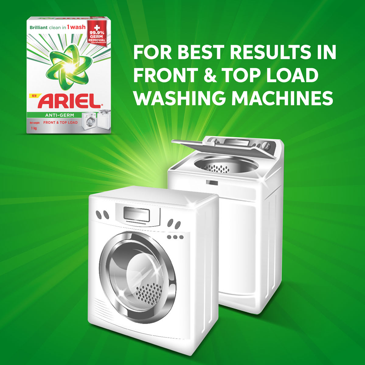 Suitable for both front and top load washing machines