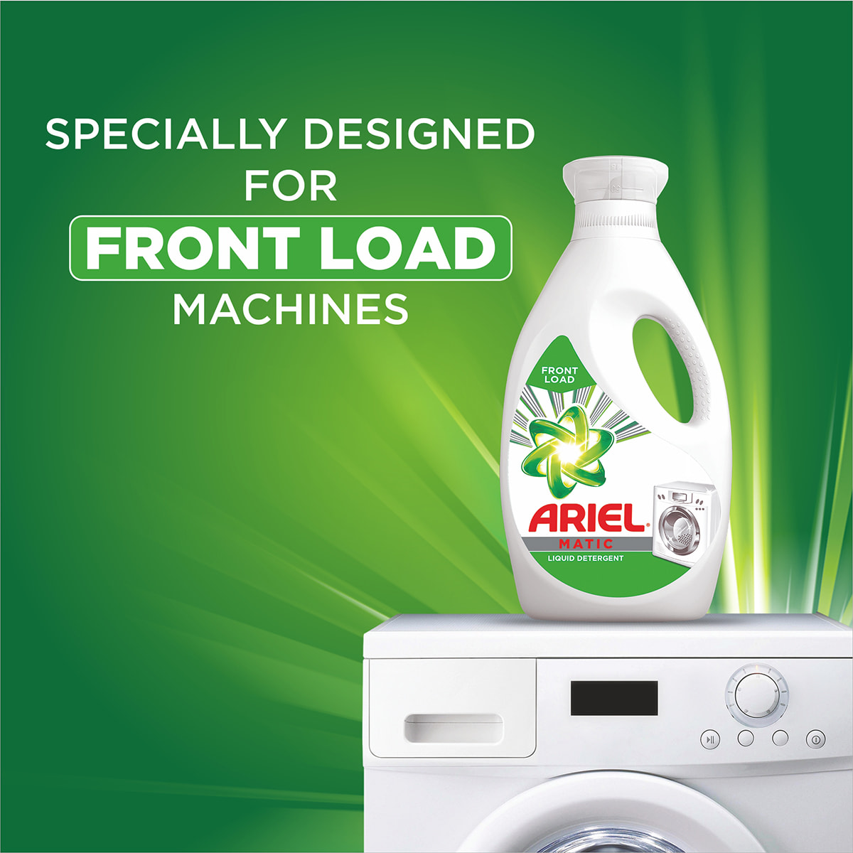 Specially designed for front load washing machines