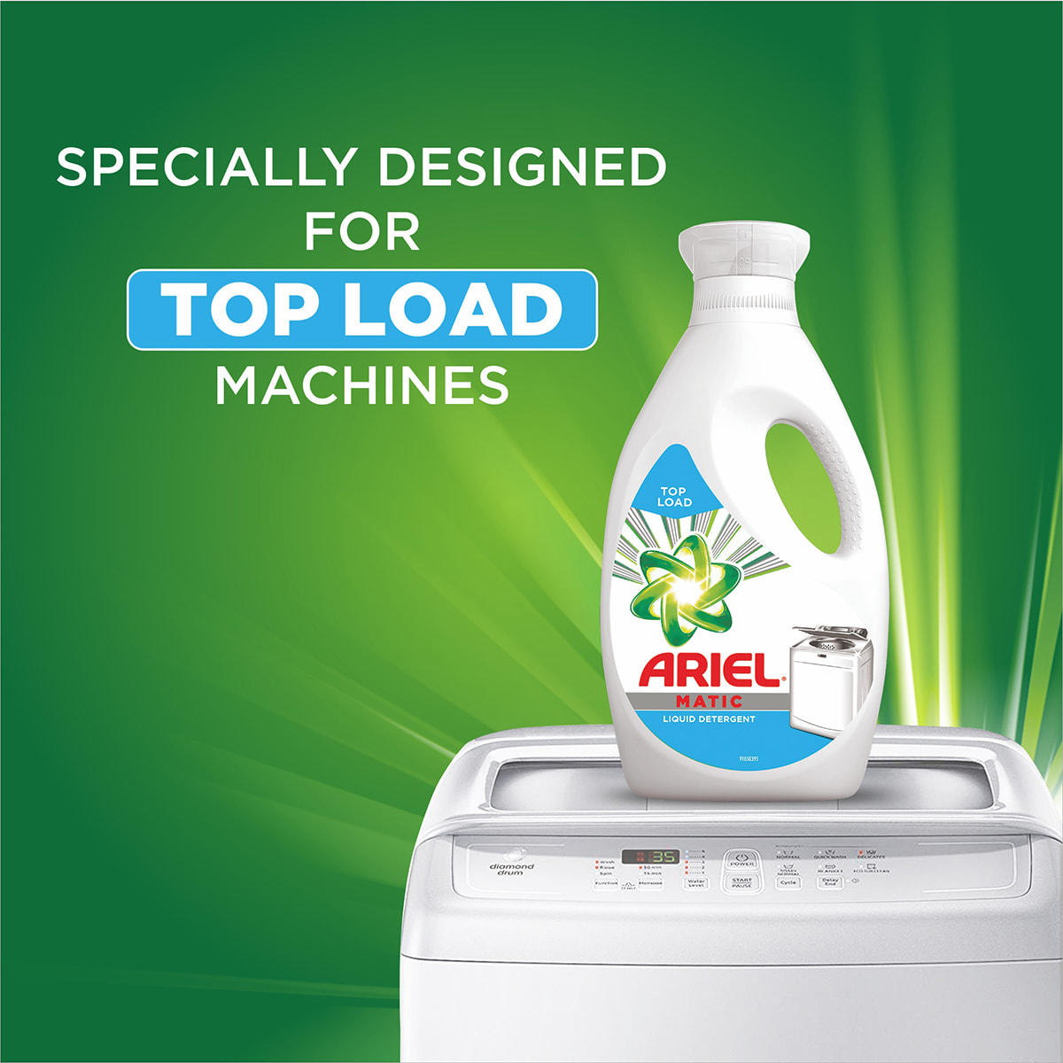 Specially designed for top load washing machines