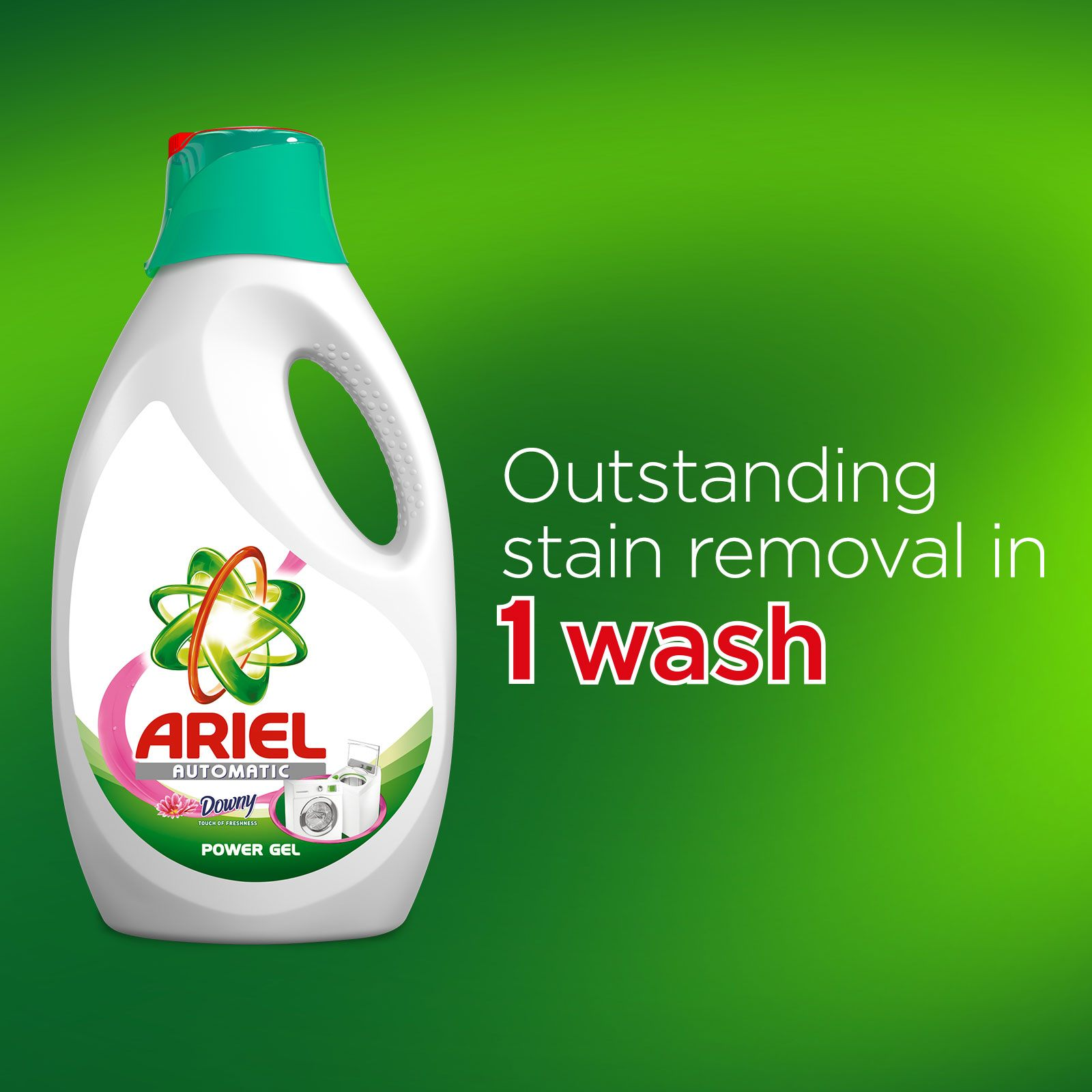 Outstanding stain removal in 1 wash