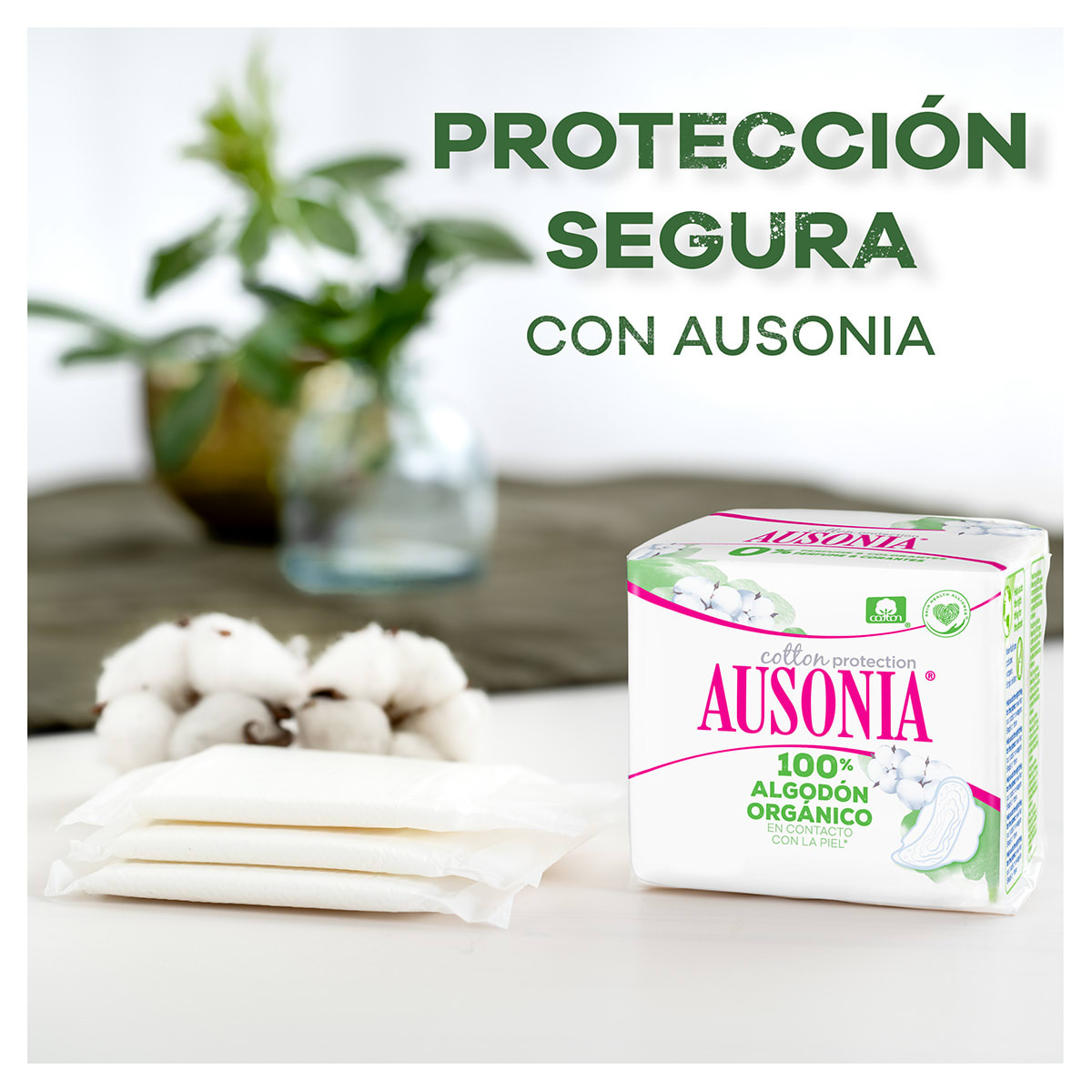 AUSONIA Cotton Protection Compresas