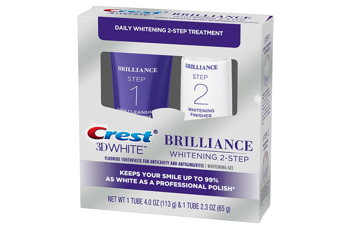 Crest 3d White Brilliance 2 Step Toothpaste Crest