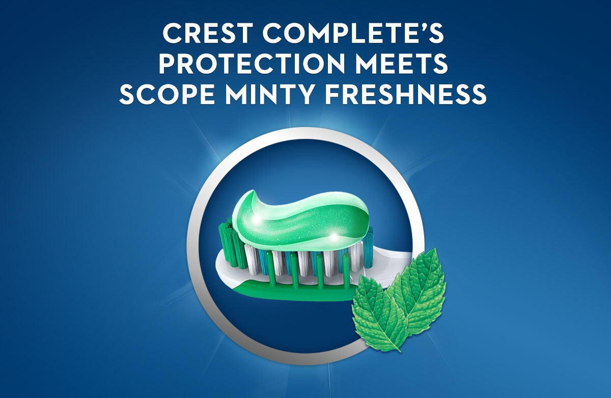 Crest Complete Whitening + Scope Minty Fresh