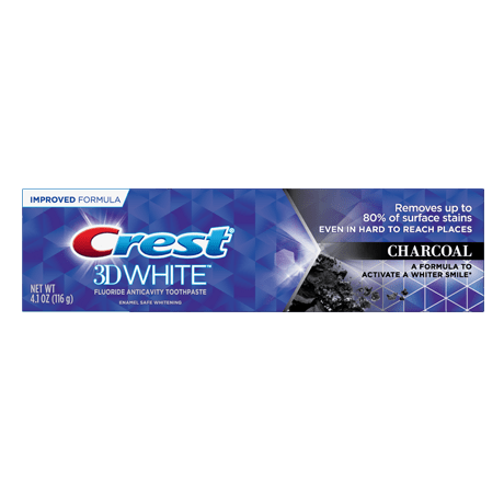 Crest 3DW Charcoal toothpaste