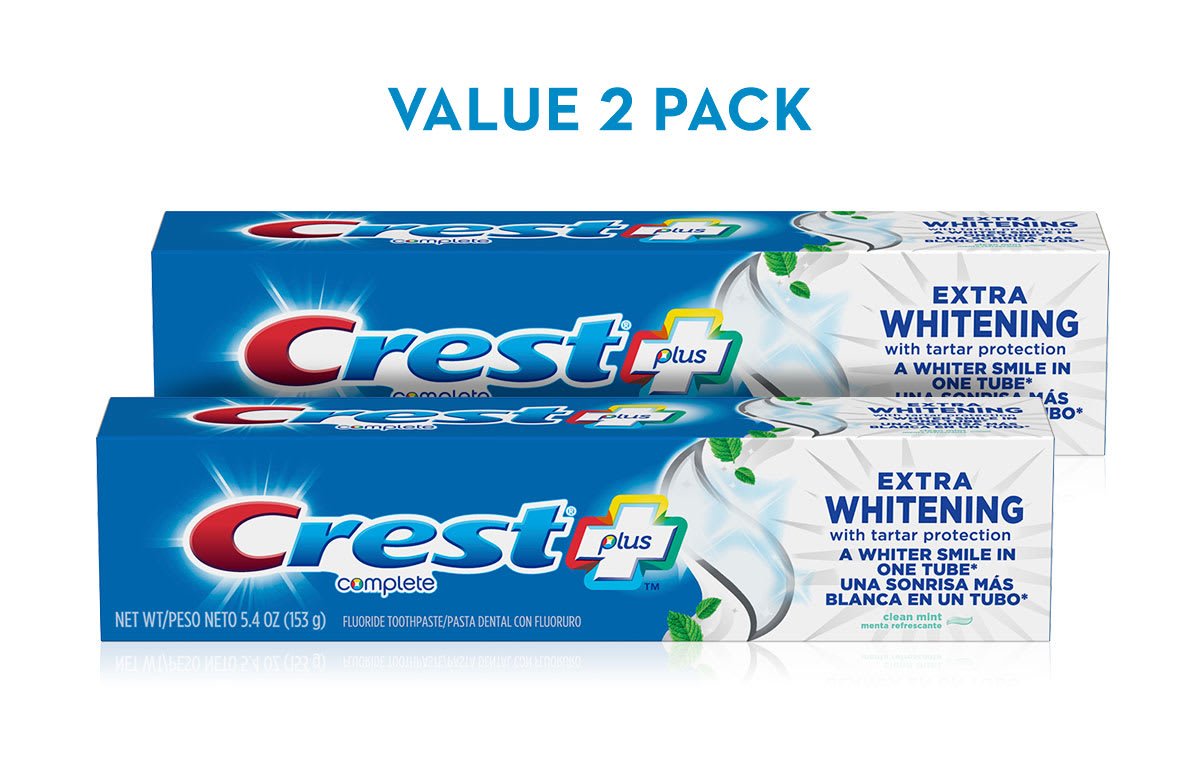 Crest Extra Whitening Toothpaste With Tartar Protection