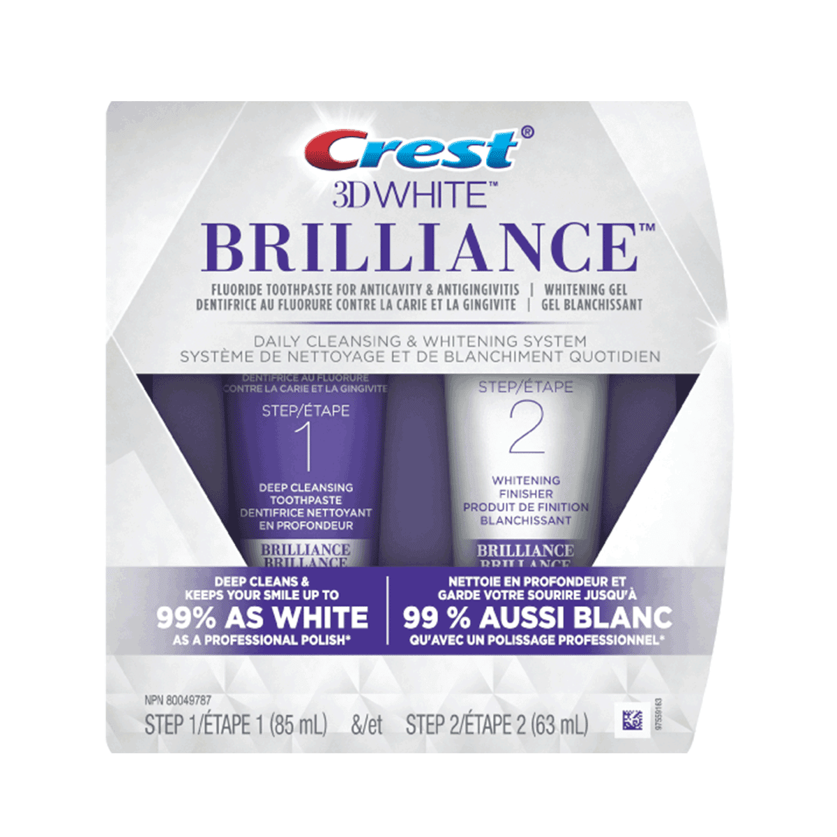 3D White Brilliance 2-Step Whitening Toothpaste System
