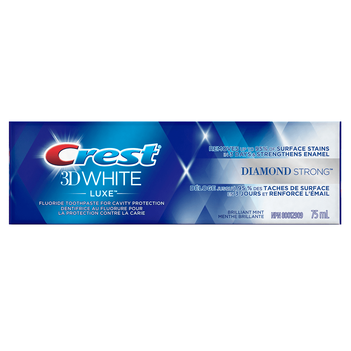 Dentifrice Crest 3D White Luxe Diamond Strong