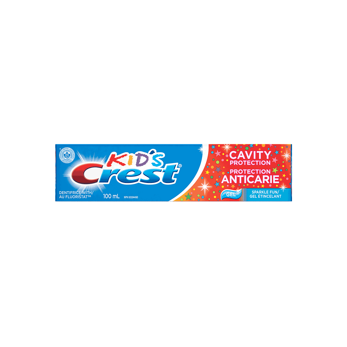 Crest Kids Cavity Protection Sparkle Fun Gel Toothpaste