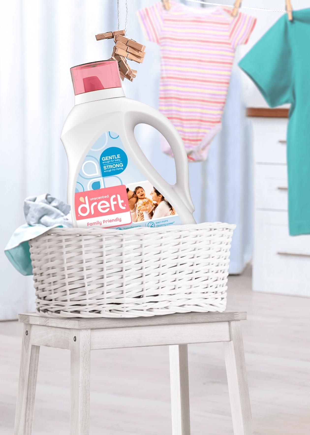 Dreft Family Friendly Laundry Detergent is perfect for family laundry