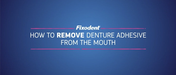 How to remove excess adhesive from the inside of your mouth and gums