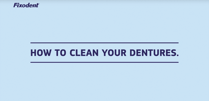 Find out how to clean your dentures