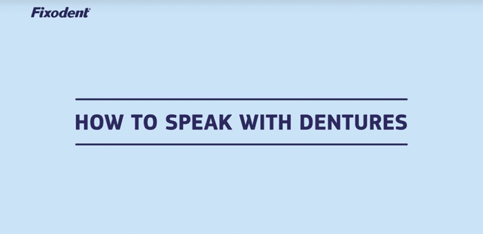 Tips on learning to speak with new dentures