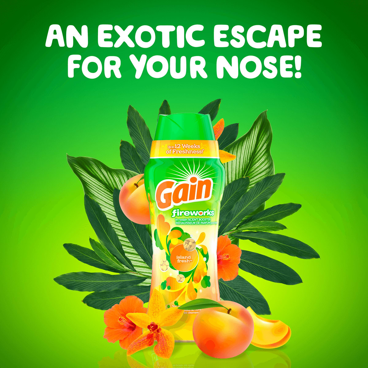 An exotic escape for your nose - Gain Island Fresh Fireworks Scent Booster package