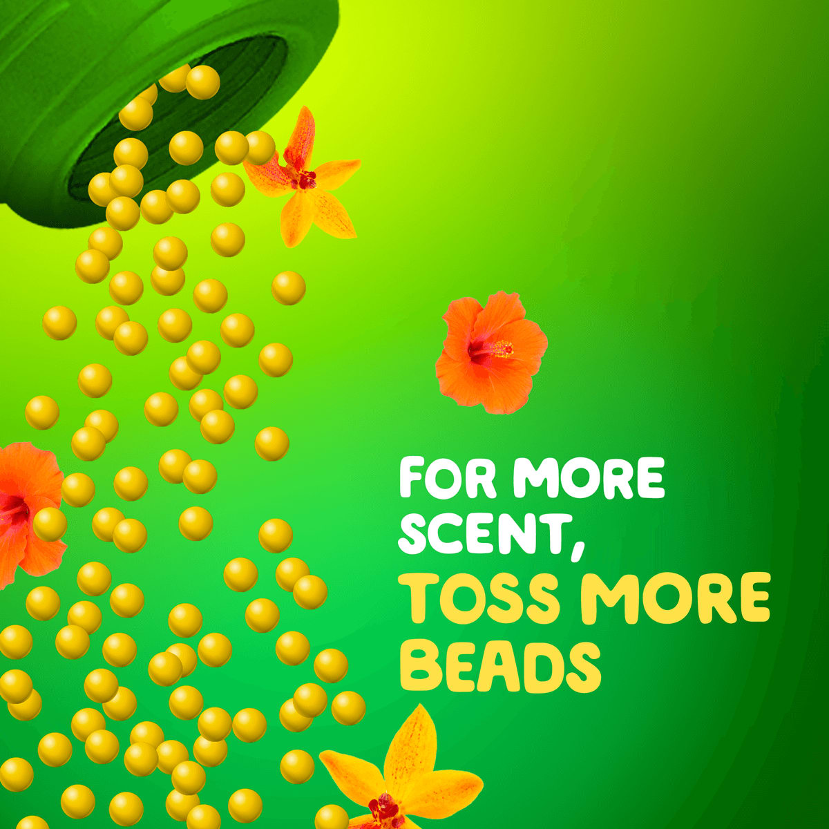 For more scent, toss more beads (perfume beads pouring)