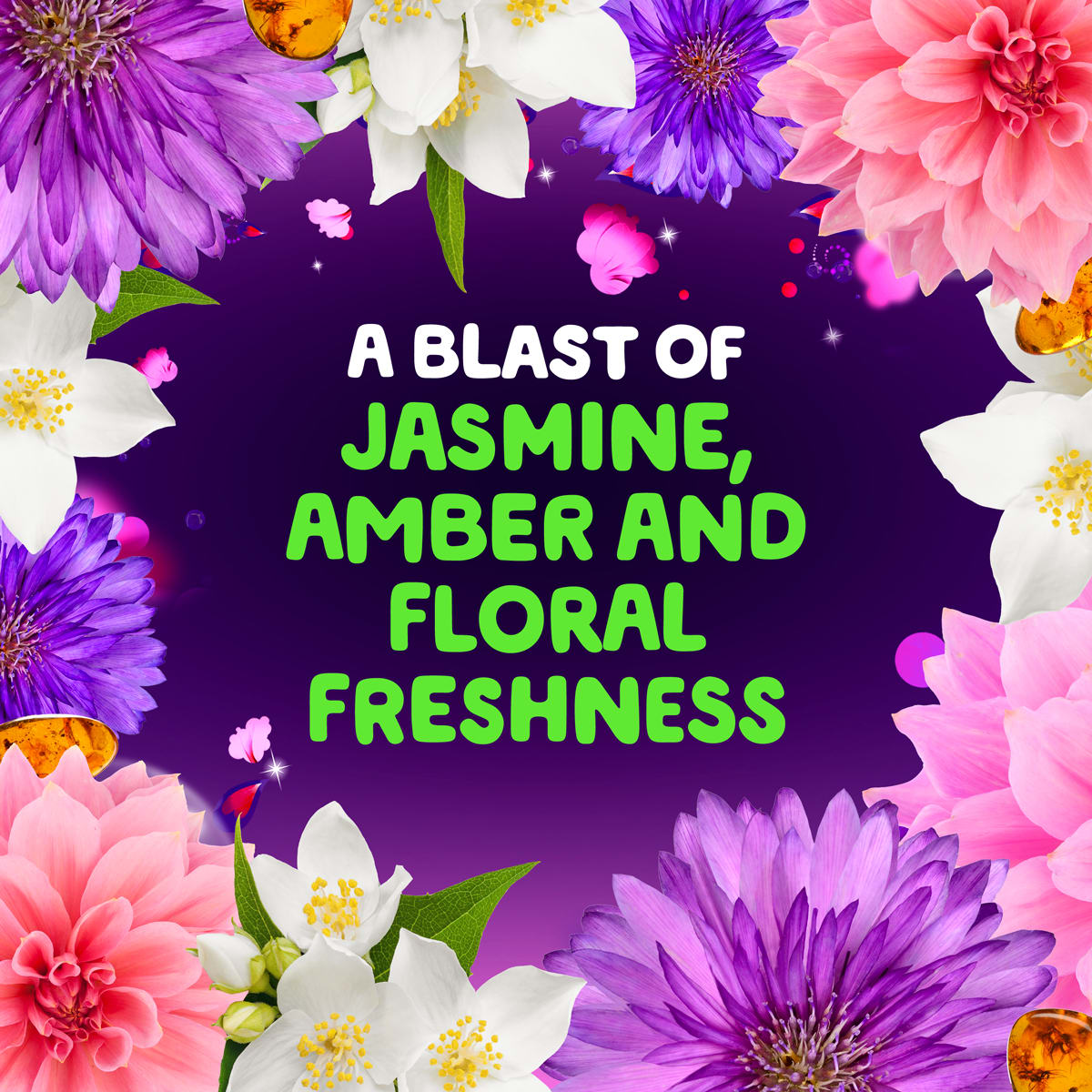 A blast of jasmine, amber, and floral freshness (flowers)