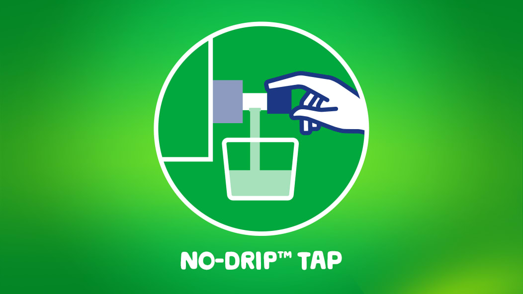 Gain Original Eco-Box Liquid Laundry Detergent product comes with a No-Drip Tap.