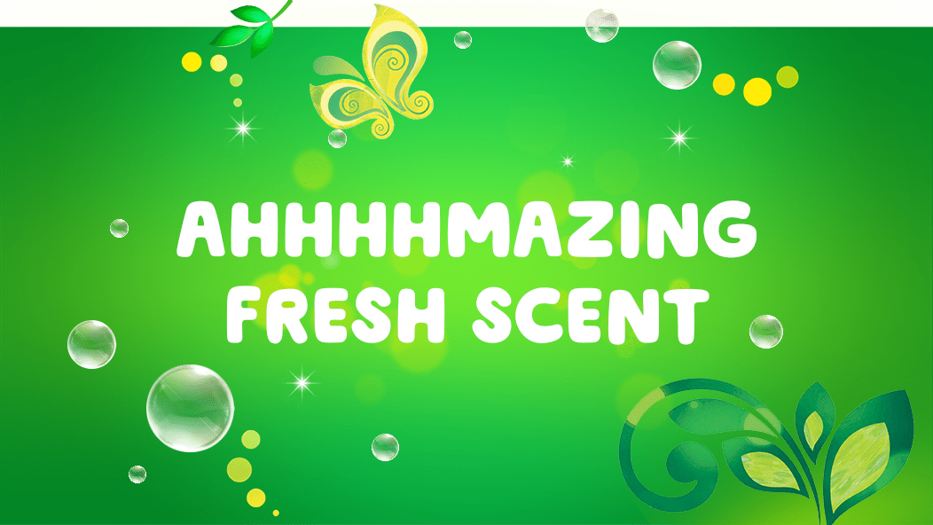 Gain Original Eco-Box Liquid Laundry Detergent gives your clothes an ahhhhmazing fresh scent.