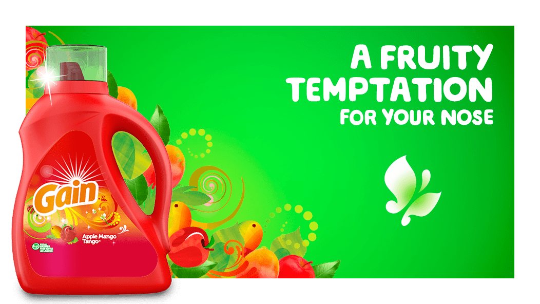 Gain Apple Mango Tango Liquid Laundry Detergent is a fruity temptation for your nose.