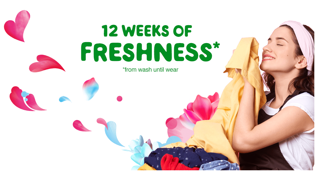 12 weeks of freshness with Gain Spring Daydream Fireworks Scent Booster