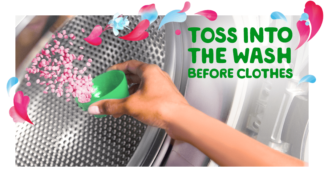 Toss Gain Spring Daydream Fireworks Scent Booster into the wash before clothes
